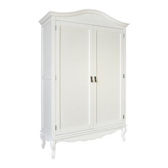 White Double Freestanding Shabby Chic Wardrobe – French Style
