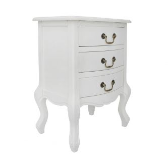 Juliette White Bedside Table
