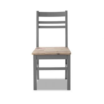 A dove grey country style kitchen and dining chair
